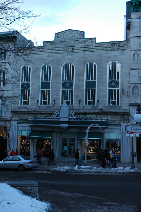 1930s – Former Empire Cinema, Quebec City, Quebec