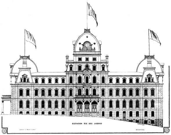 1891 &#8211; First Premiated Design, Quebec City Hall