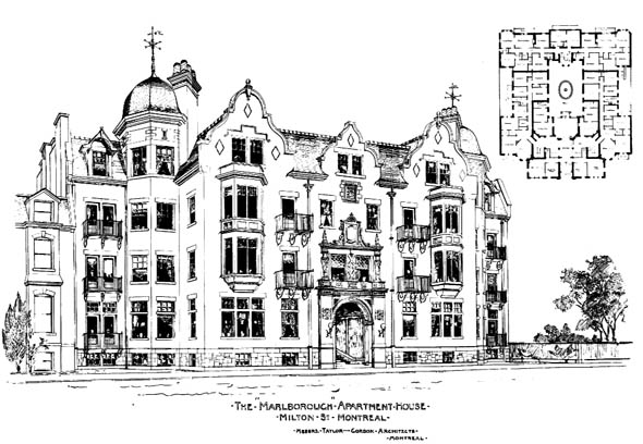 1900 &#8211; Marlborough Apartments, Milton St., Montreal, Quebec