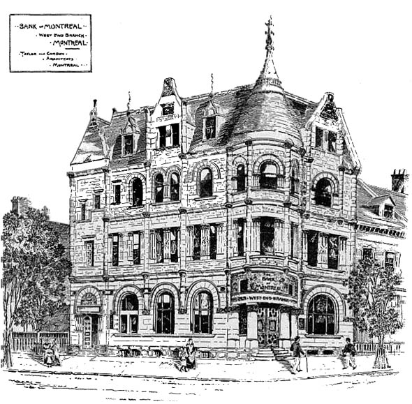 1892 &#8211; Bank of Montreal Branch, Montreal, Quebec