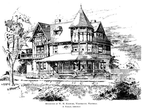 1896 &#8211; Residence, Westmount, Montreal, Quebec