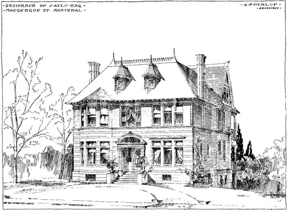 1898 – Residence, McGregor Street, Montreal, Quebec