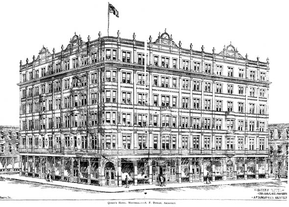 1893 &#8211; Queen&#8217;s Hotel, Montreal, Quebec