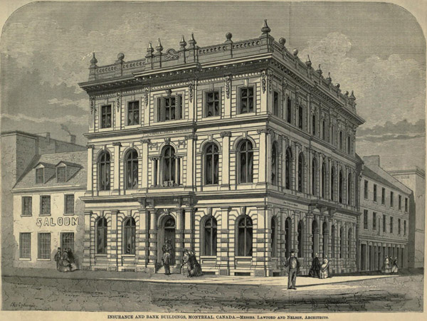 1860 – Liverpool and London Insurance Company, Montreal, Quebec, Canada