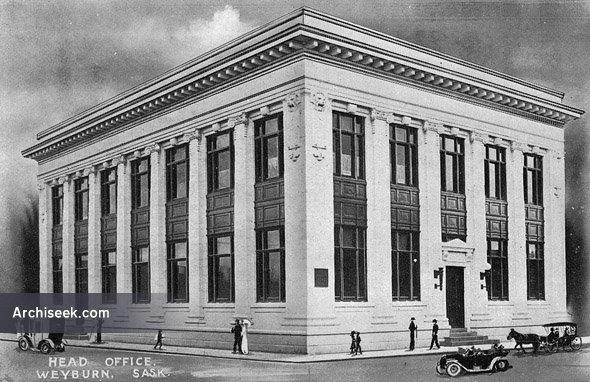 1910 – Weyburn Security Bank, Weyburn, Saskatchewan