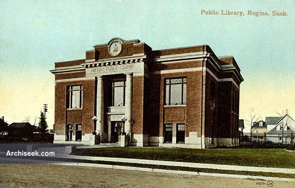 1912 – Public library, Regina, Saskatchewan