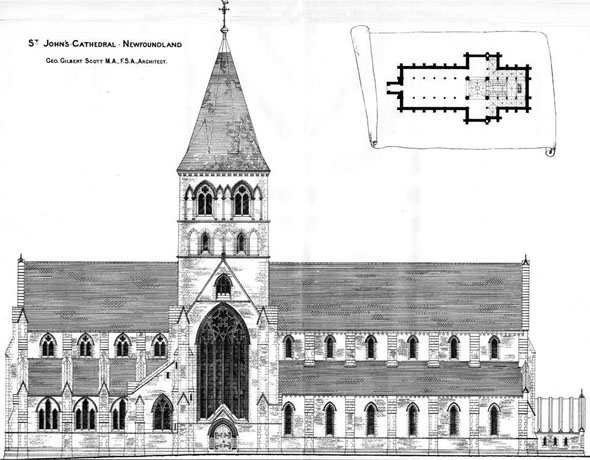 1885 &#8211; St. John&#8217;s Cathedral, Newfoundland