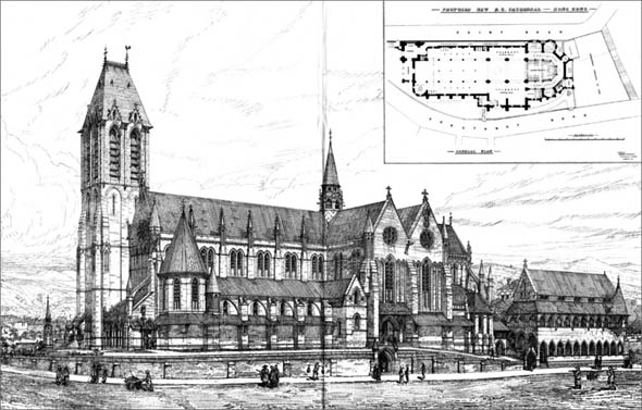 1880 &#8211; Proposed New Catholic Cathedral, Hong Kong, China