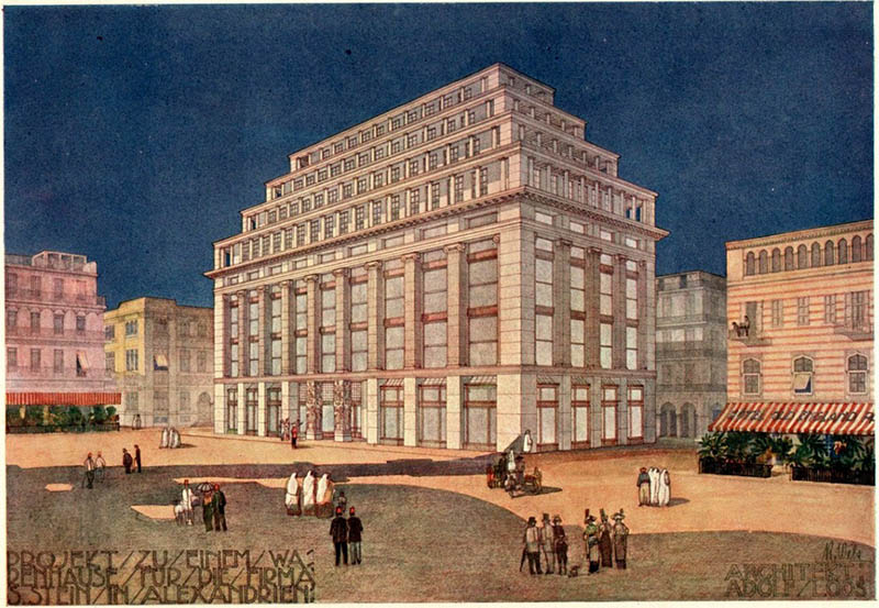 1910 – Proposal for Department Store, Alexandria, Egypt