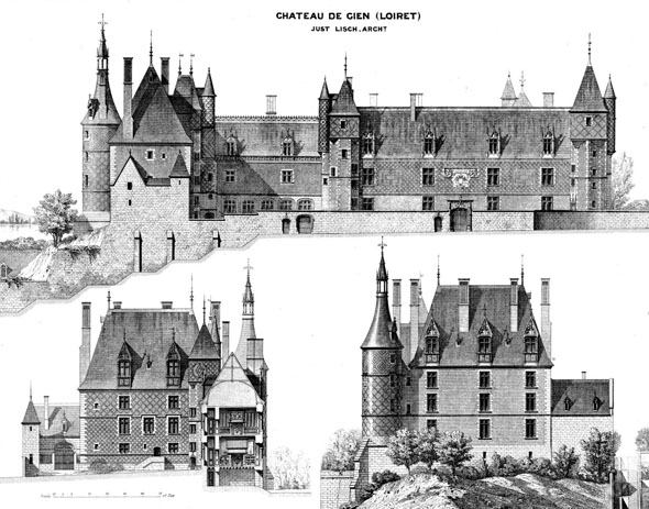 1490s &#8211; Chateau de Gien, Loiret, France