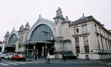 1896 &#8211; Railway Station, Tours, Indre-et-Loire, France
