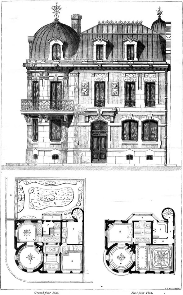 1860 &#8211; House of an Architect, Cite Malesherbes, Paris