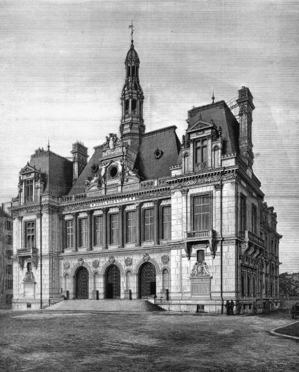 1886 &#8211; New Hotel de Ville, Neuilly, Paris, France