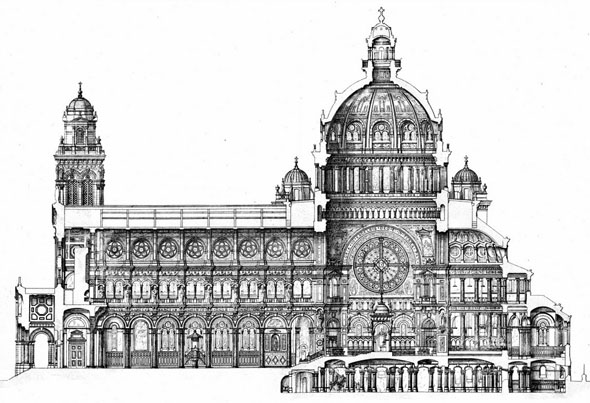 1877 – Design for The Church of The Sacre 'Coeur, Montmarte, Paris