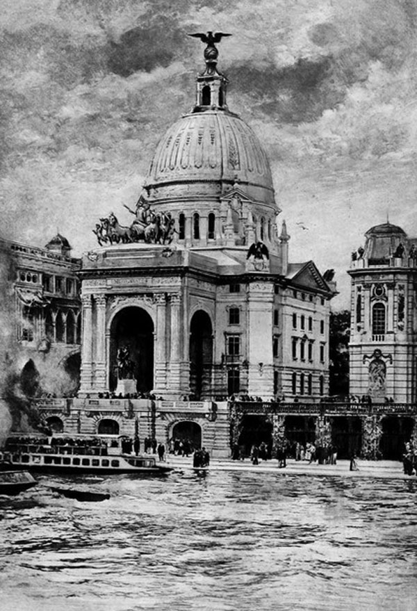 1900 – The American Pavilion, Exposition Universelle, Paris