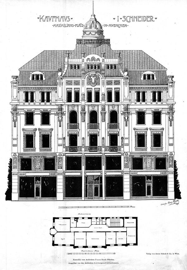 1875 – Kaufhaus Schneider, Maximiliansplatz, Munich, Germany