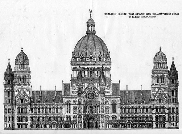 1875 &#8211; Premiated Design for New Parliament House, Berlin