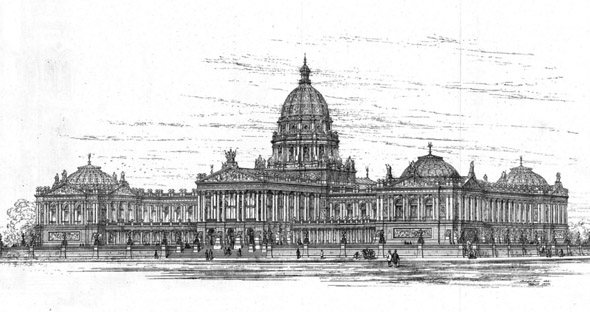 1873 – Design for Parliament, Berlin, Germany