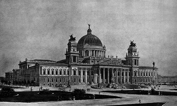 1882 – Design for Reichstag, Berlin