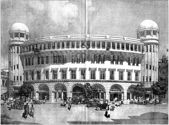 1910 – Bank & Premises, Calcutta