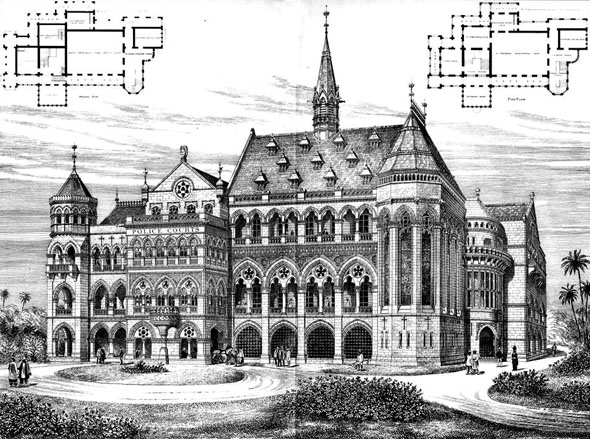 1885 &#8211; The Fort Police Courts, Bombay (now Mumbai), India