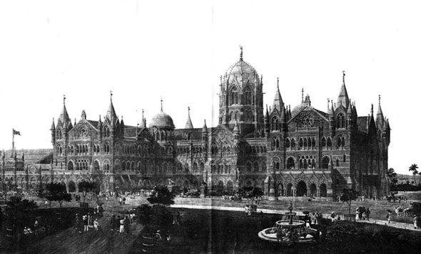 1886 – Great Indian Peninsular Railway Terminus & Administrative Offices, Bombay, India