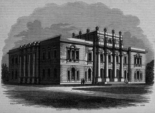 1853 – Design for Presbyterian College, Belfast