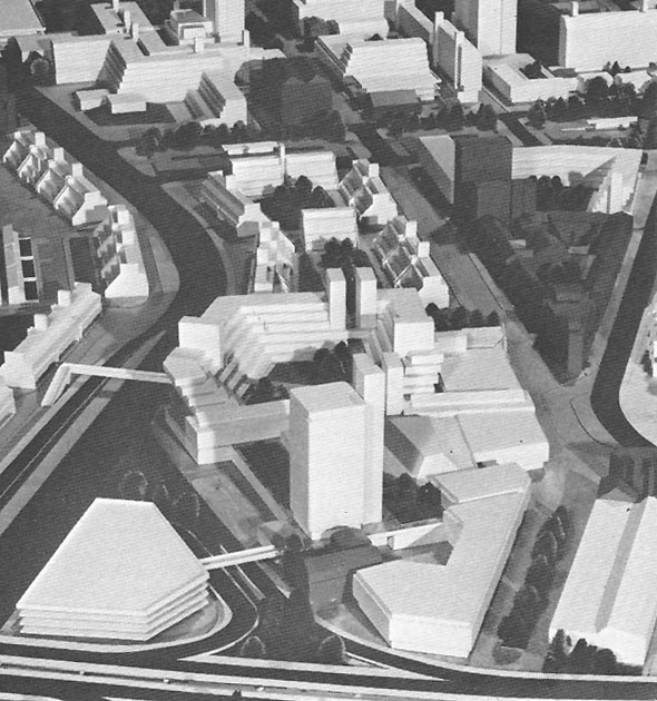 1968 – Unbuilt plan for Shaftesbury Square, Belfast