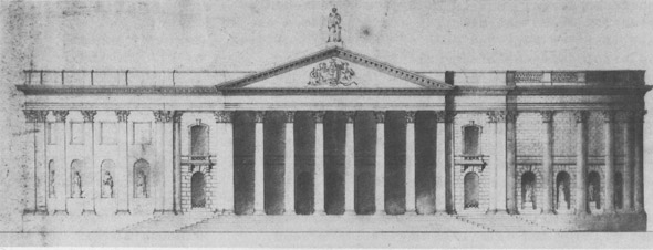 1847 &#8211; Design for County Court House, Belfast, Co. Antrim