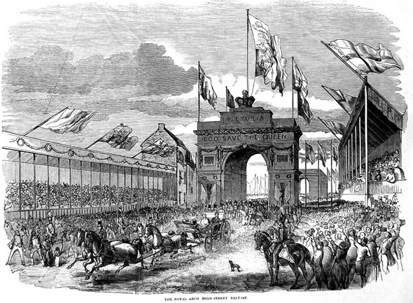 1849 &#8211; Royal Triumphal Archway, High St., Belfast