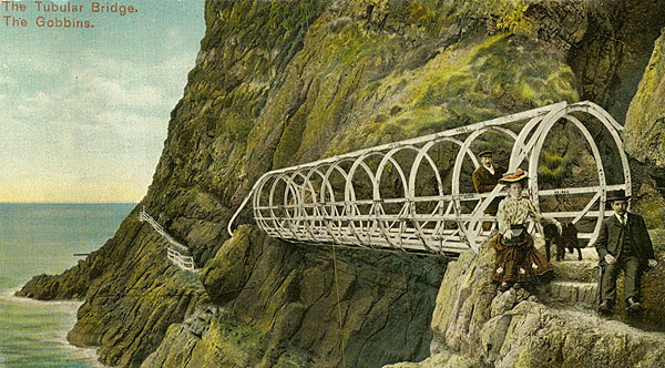 1902 – The Tubular & Suspension Bridges, The Gobbins, Co. Antrim