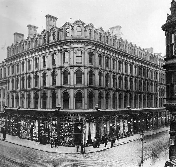 1874 – J. Robb & Co Department Store,  Castle St., Belfast