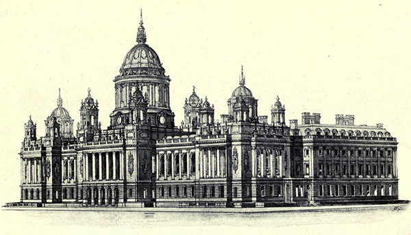 1896 – Design for Belfast City Hall