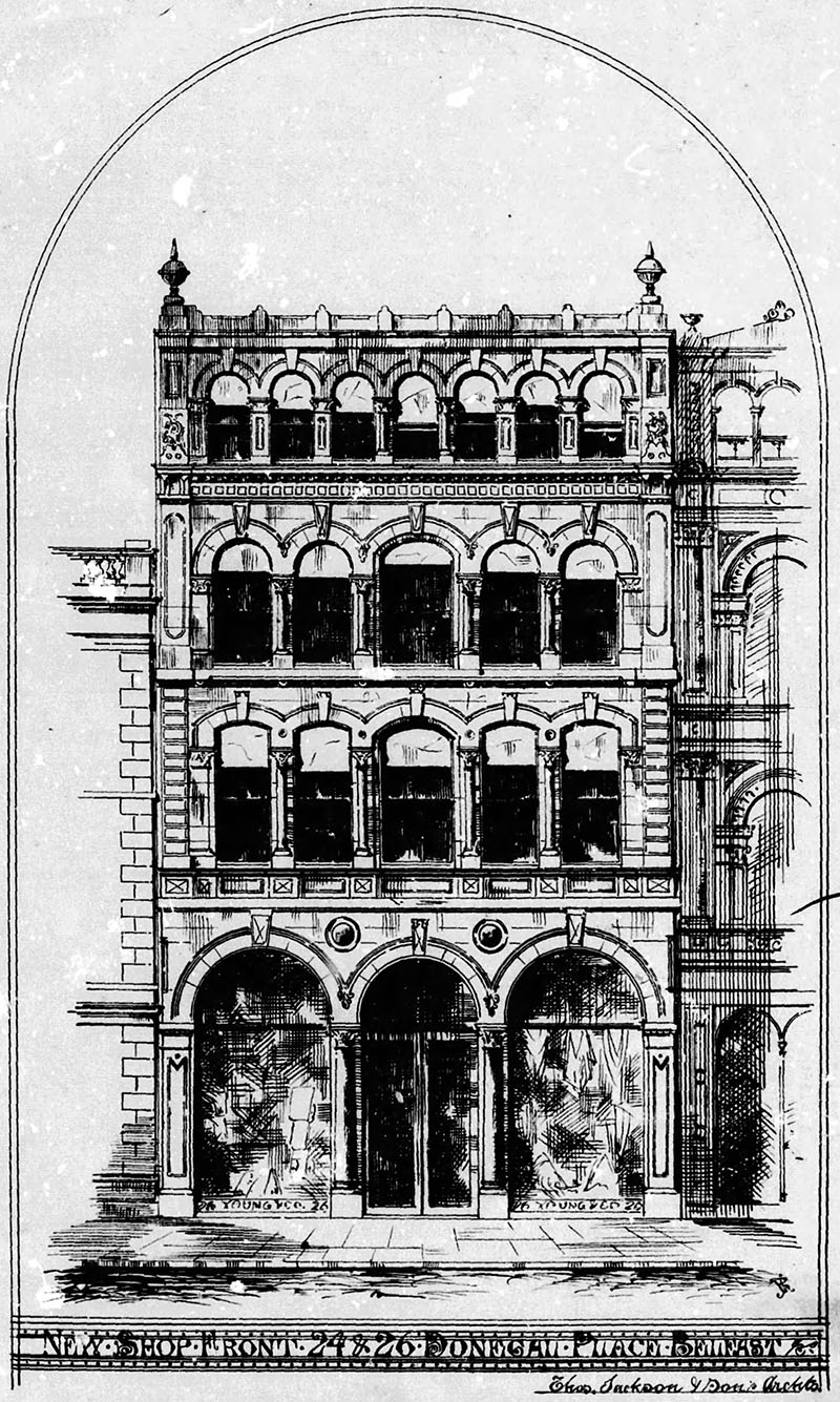 1871 – Nos. 24 & 26 Donegall Place, Belfast, Co. Antrim