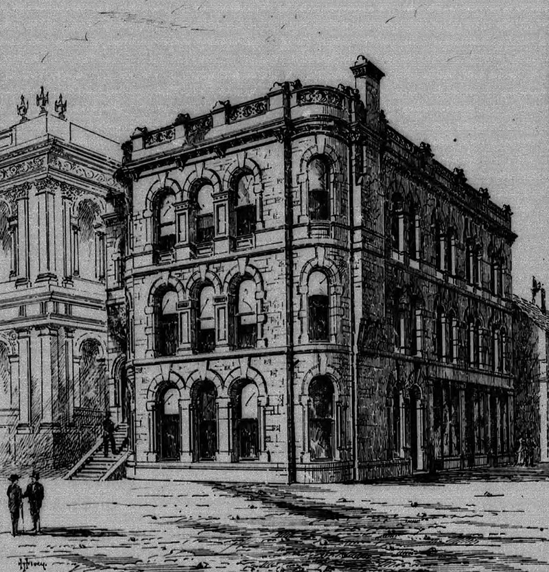 1870 – Ulster Bank Buildings, Waring St., Belfast