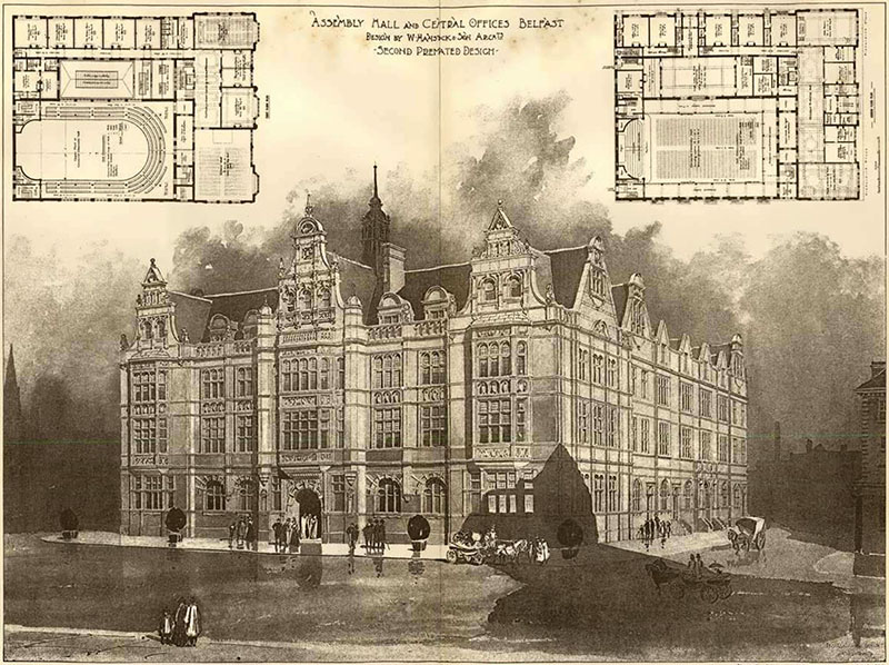 1900 – Second Premiated Design for Presbyterian Assembly, Belfast