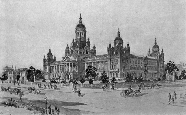 1898 – Competition design for Belfast City Hall