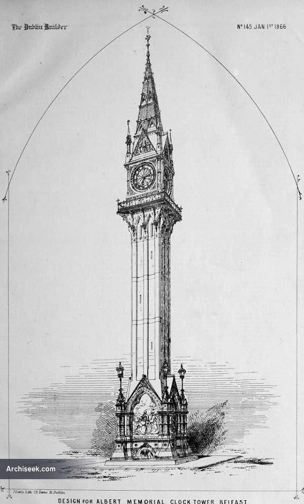 1865 – Design for Albert Memorial Clock, Belfast