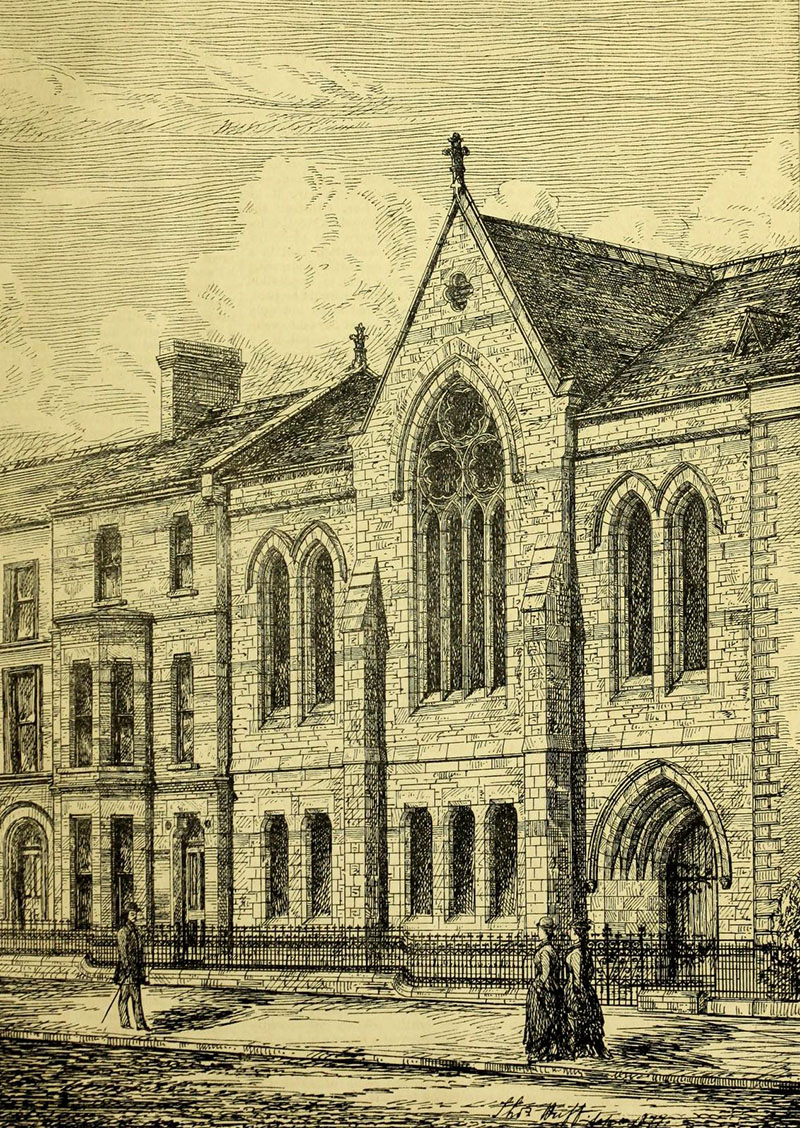 1879 – Presbyterian Memorial Secession Church Buildings, Botanic Ave., Belfast