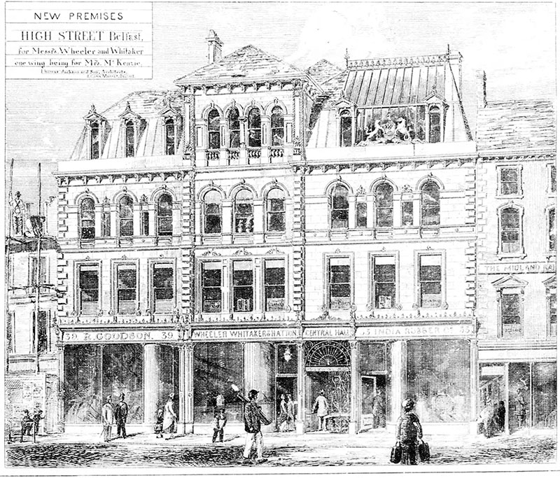 1881 – St.George's Building, 37-41 High Street, Belfast