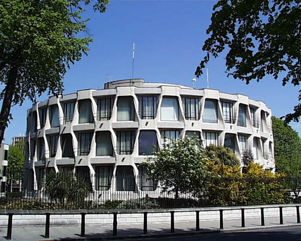 1964 – United States Embassy, Northumberland Road, Dublin