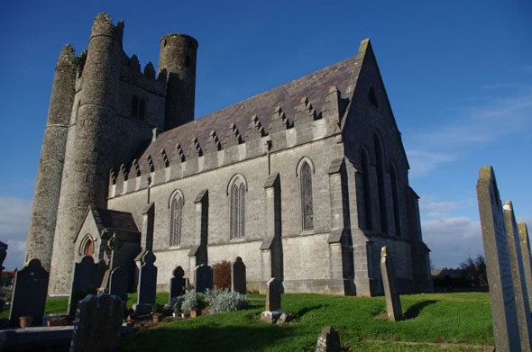 1847 &#8211; Church and Tower, Lusk, Co. Dublin