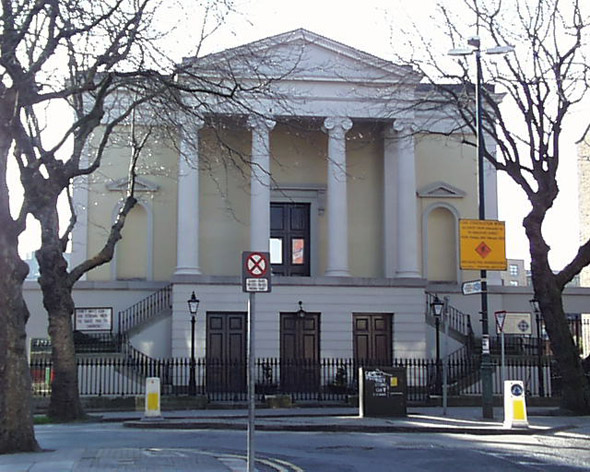 1908 &#8211; Facade of Presbyterian Church, Adelaide Road, Dublin