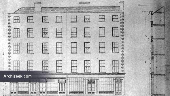 1832 – Houses, Dame Street, Dublin