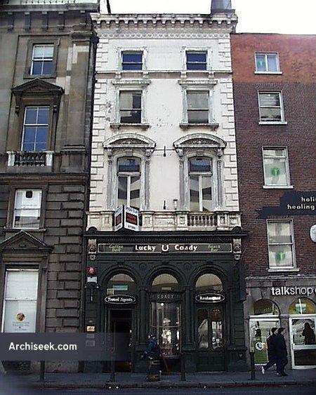 """1865 – No. 39 """"Lucky Coadys"""", Dame Street, Dublin"""