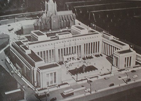 1957 – Dublin Corporation Unbuilt Proposal, Wood Quay, Dublin