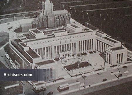 1957 – Dublin Corporation Unbuilt Proposal, Wood Quay, Dublin