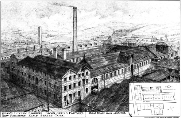 1888 – Bacon Curing Factory, Kemp Street, Cork