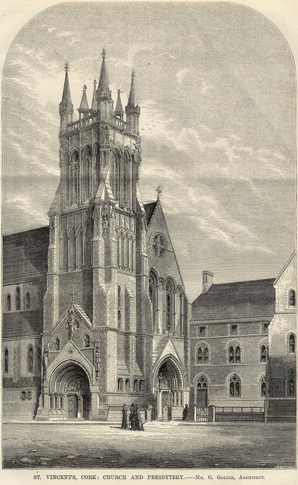 1866 &#8211; Design for St.Vincent&#8217;s Church and Presbytery, Cork