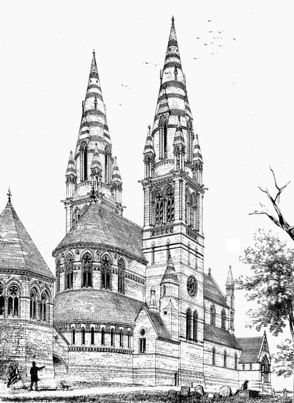 1862 – Unbuilt Design for St. Finn Barre's Cathedral, Cork